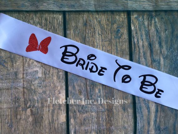 Minnie Inspired Bride To Be Disney Inspired by FletcherIncDesigns