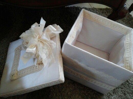 Caja de regalo , para boda o bautizo