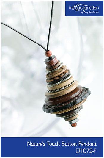 EPattern Touch bouton pendentif de la nature par indygojunction