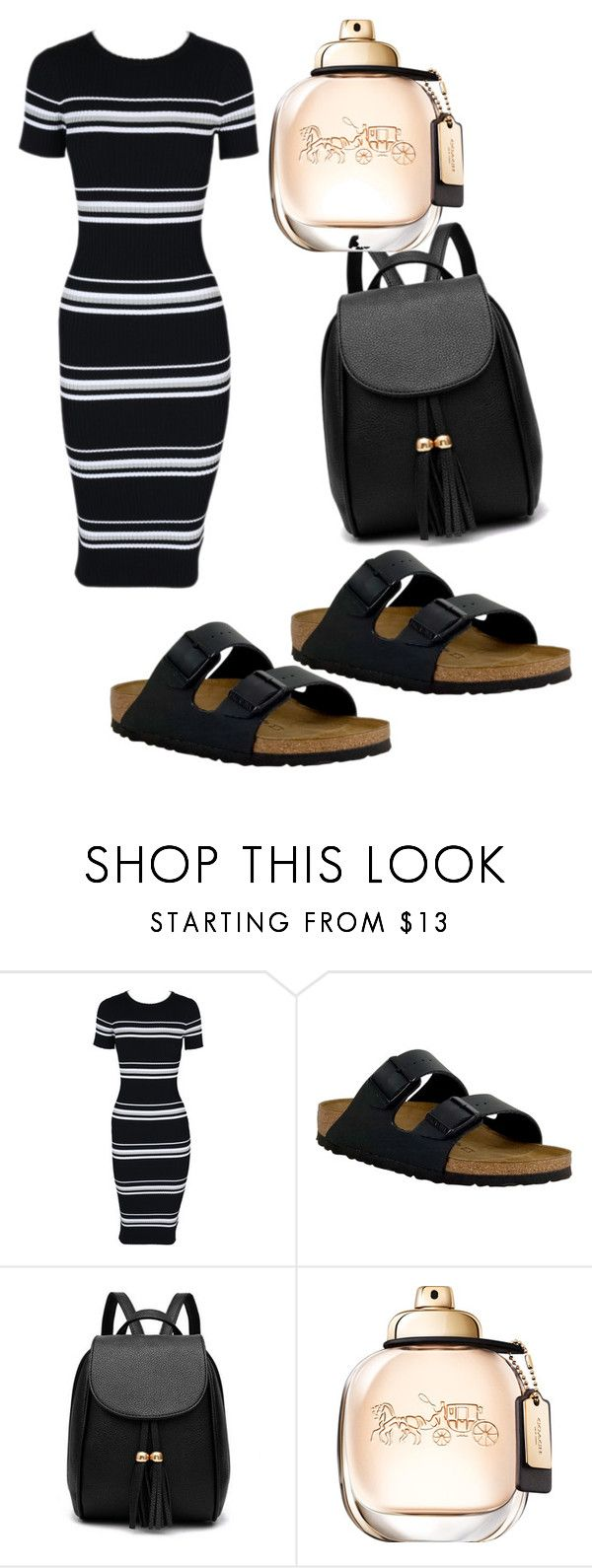 """""""."""" by valeria-arcos on Polyvore featuring MINKPINK and Birkenstock"""