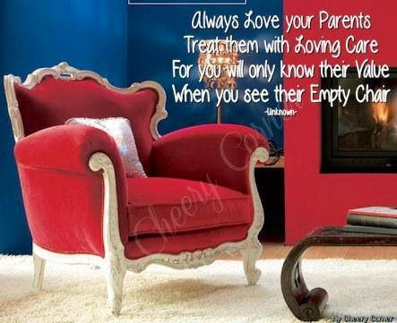 Love your parents quote via My Cheery Corner page on Facebook