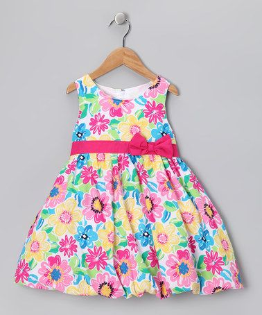 Take a look at this Rainbow Floral Babydoll Dress - Infant, Toddler & Girls by Longstreet on #zulily today!