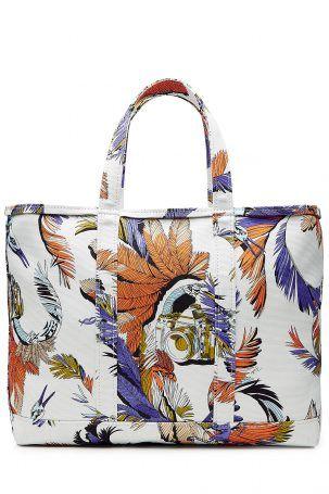 Emilio Pucci Emilio Pucci Bedruckte Tasche aus Baumwolle – Weiß
