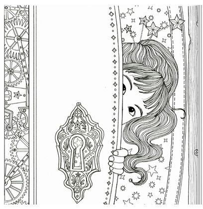 The Time Chamber Colouring Book Secret Garden Style