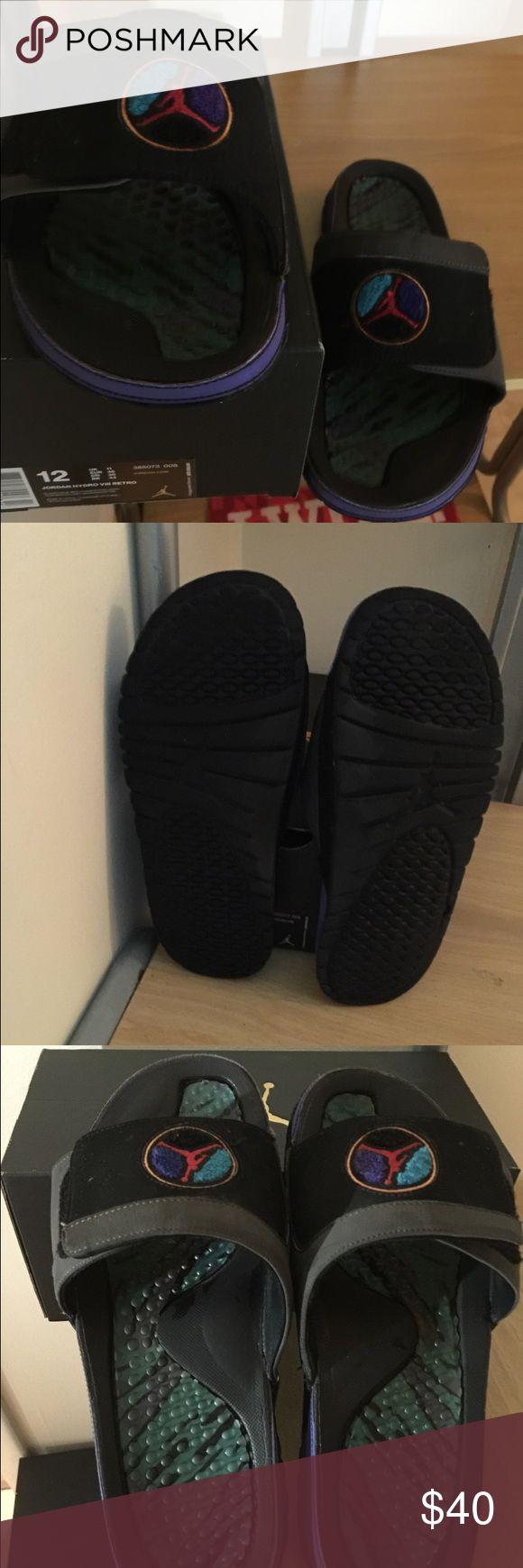 Men's Air Jordan Aqua 8 flip flops These Jordan flip flops are perfect to wear around the house or in hot weather. Price negotiable Jordan Shoes Sandals & Flip-Flops