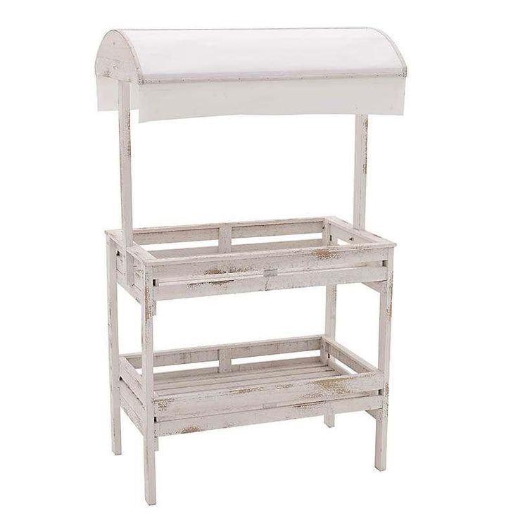 WOODEN SHELF IN WHITE COLOR 70X42X122