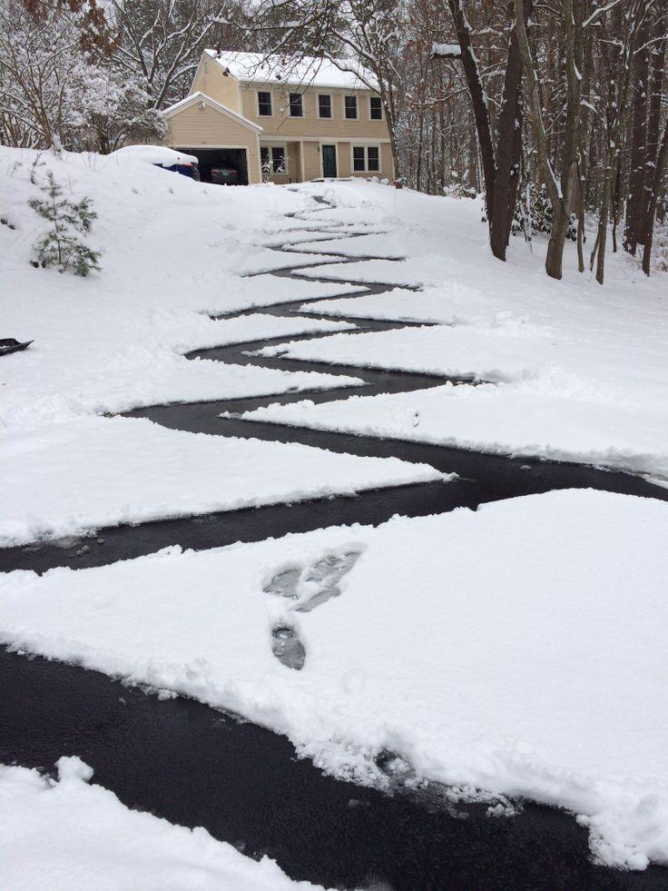 When a teenager shovels a path #snow