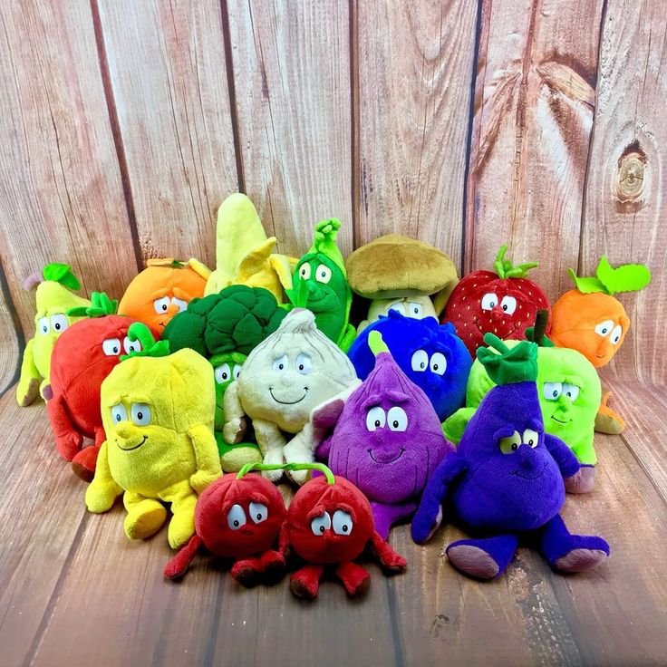 Goodness Gang Co Op Fruit And Veg Soft Plush Toys Complete Series 1 & 2 Bundle