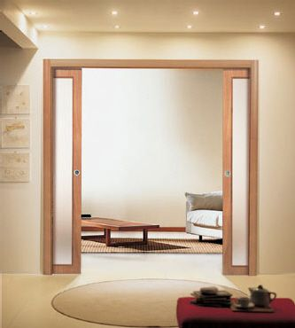 Cool sliding doors with glass, that add privacy yet not block out the light. Thinking this is great for the formal lounge, as not to close the room in.