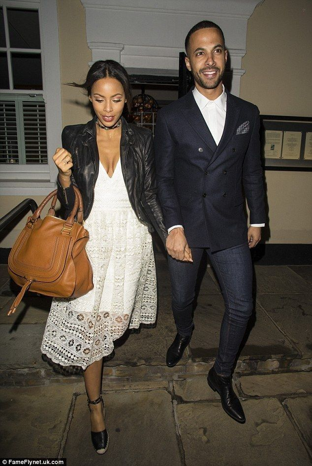 Rochelle Humes enjoys a romantic dinner date with her husband Marvin - Celebrity Fashion Trends