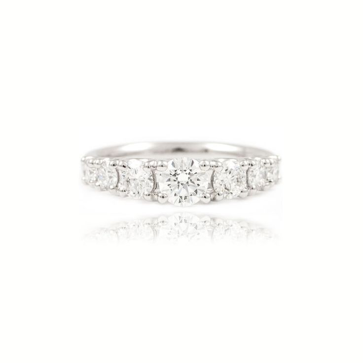 The Paul Sheeran Eternity ring collection | New Arrivals | Beautiful Seven stone graduated diamond eternity ring