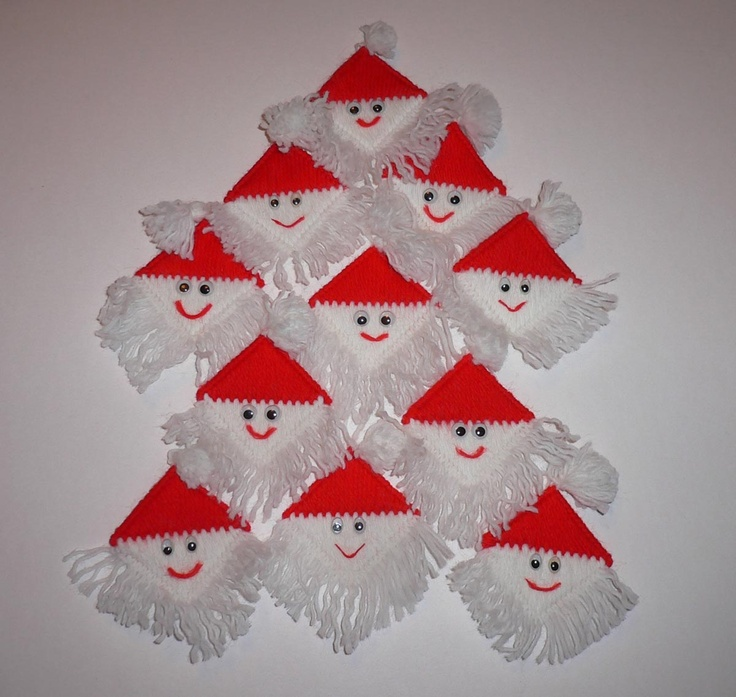 plastic canvas santas