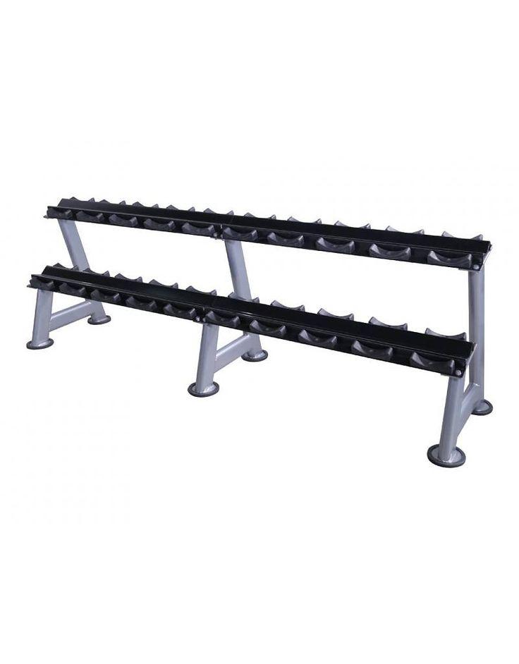 Lifemaxx Dumbbellrack black (5 - 20 sets)  Description: De Lifemaxx dumbbellrack (black) is verkrijgbaar in bijna elke afmeting zodat de dumbbellsets netjes opgeborgen kunnen worden. Dit stijvolle mat zwarte rek is zeer gemakkelijk uit te breiden met stappen van 5 of 6 sets. (Set is 1 paar dumbells) De Lifemaxx dumbbellrack (black)is een stijlvol rek met een zeer stevig mat zwart frame en bevat rubberen houders voor de dumbbells zodat deze niet beschadigen. Tevens heeft dit rek ook geen…