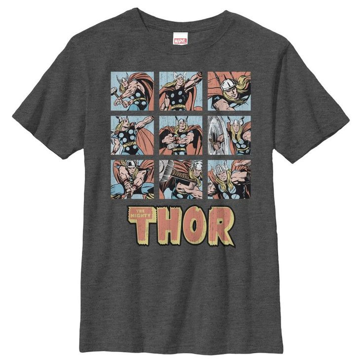 Thor Multi Pose Grid Youth T-Shirt
