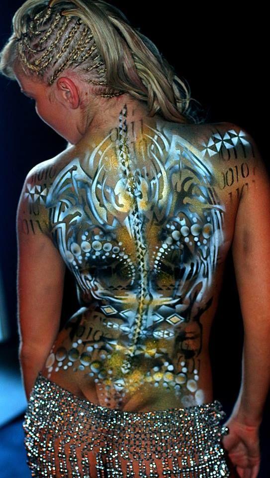 futuristic dorsal paint