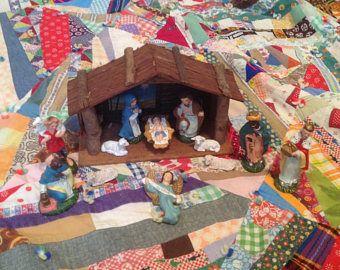 Vintage Noël Nativité ensemble Japon