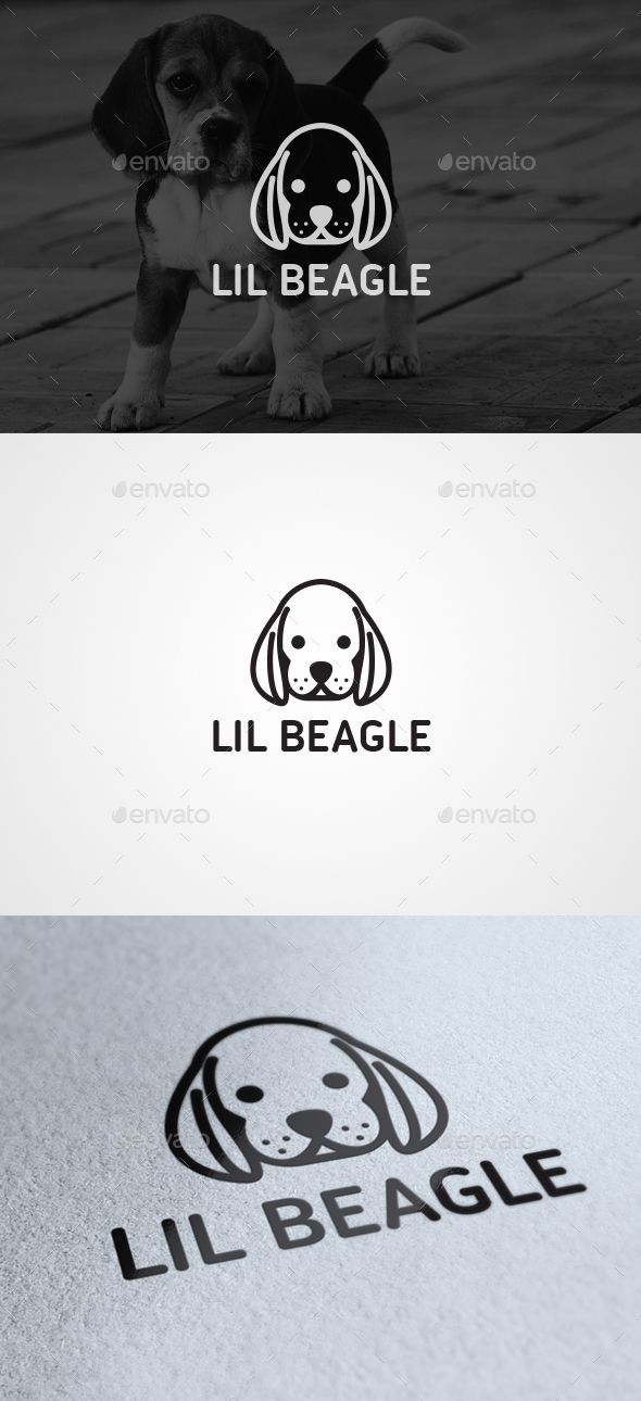 Lil Beagle - Animals Logo Templates