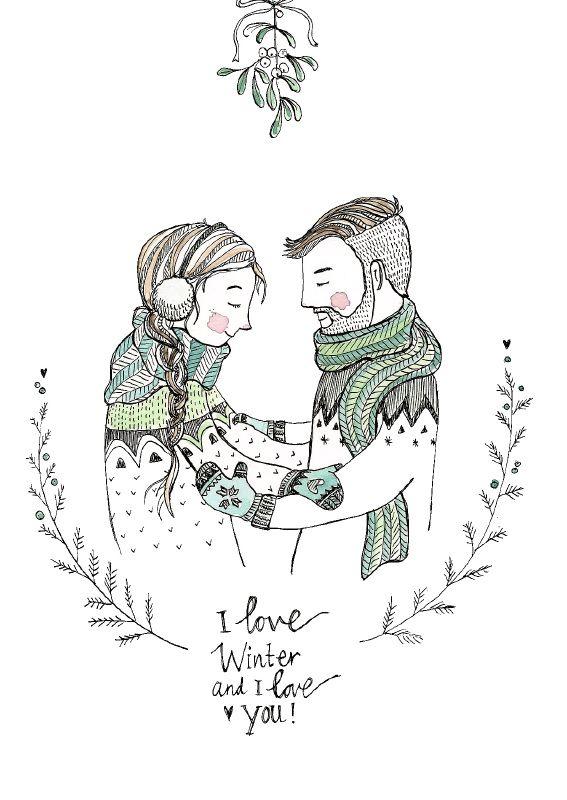 Marieke ten Berge 'Kaart I Love You Winter'