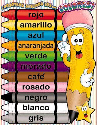 En la clase de español en St.Peter, yo se nada aparte de los colores y los básicos.