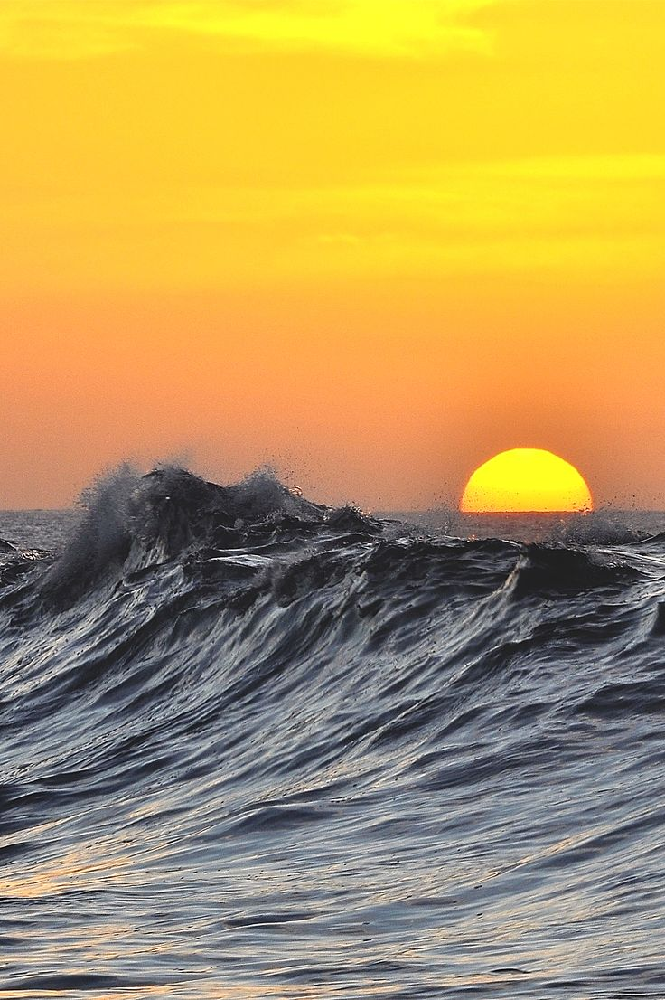 wavemotions:  Sunset and wavesby Marcos B