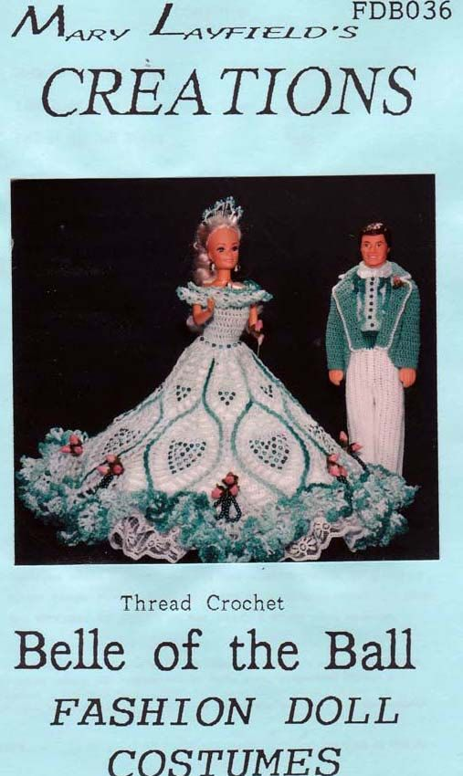 barbie crochet ball gown patterns free | Crochet Barbie Doll Belle of the Ball Dress Mary Layfield's Creation ...