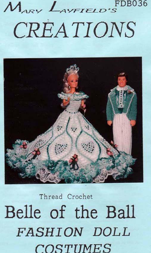 barbie crochet ball gown patterns free | Crochet Barbie Doll Belle of ...
