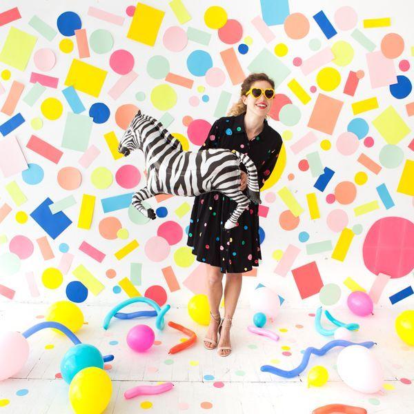 DIY Confetti Backdrop | Oh Happy Day!