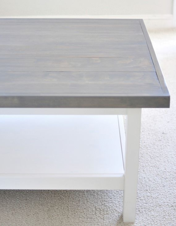 Gorgeous Stain By Rustoleum Called Weathered Gray Awesome Transformation Ikea Coffee Tableikea