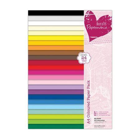 """Набор бумаги для скрапбукинга """"24 цвета"""", 48 листов, А4 ― HOBBYBOOM"""