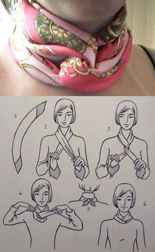 Una forma práctica y elegante de llevar un foulard de seda. #eslavia #complementos #foulard
