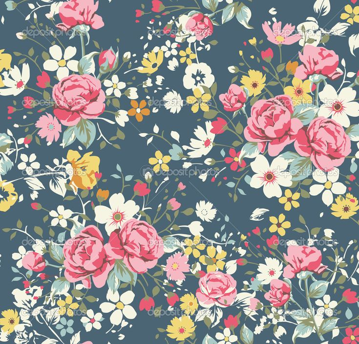 Floral print background tumblr quotes tumblr floral print quotes florals - Papier peint vintage ...