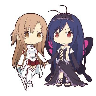Asuna (Sword Art Online) & Kuroyukihime (Accel World)... MOEEE!!!