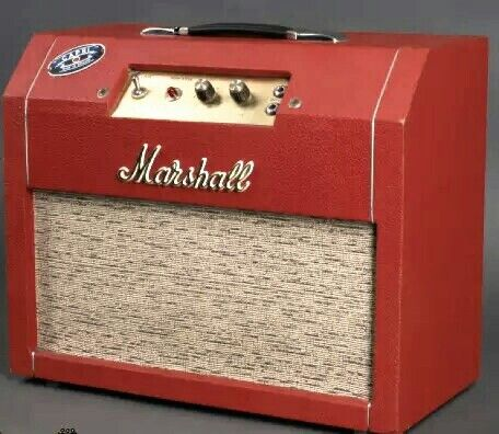 """1967 MARSHALL Capri 5 watt guitar amp w/12AX7 & EL84 to """"Push-Pull"""" Output Transformer. w/ a pair of 8 inch speakers. CAPRI was a mail order only student model.. Only 100 made. Looks cool & would be cool to fix up, switch speakers out & make a killer studio amp.. If they weren't so rare!"""