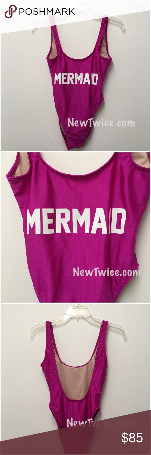 """New! Private Party mermaid purple one piece swim New never worn. One piece swimsuit. Size s/m reads """"mermaid"""" low cut neckline Private Party Swim One Pieces"""
