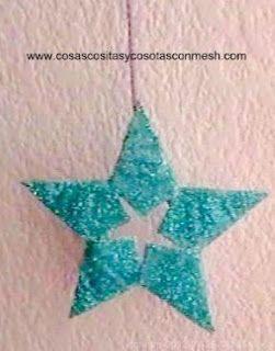 Como hacer una estrella navideña ~ cositasconmesh