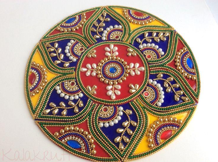 A personal favourite from my Etsy shop https://www.etsy.com/in-en/listing/462787658/indian-bollywood-rangoli-kundan-rangoli