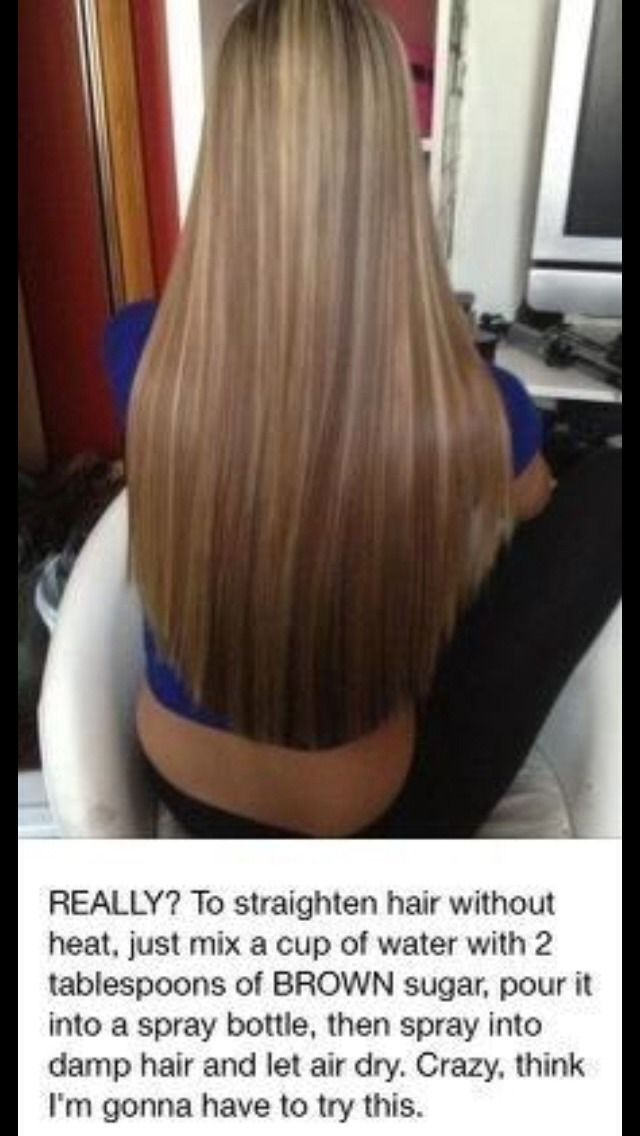 How To Straighten Your Hair Without Heat-I want to try this! Though I am not so sure about it...