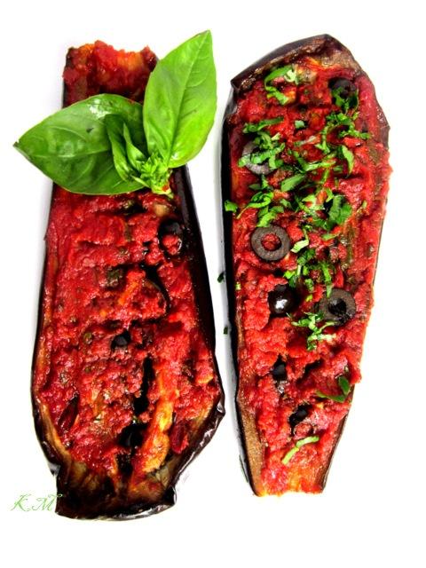 Zakamarki mojej kuchni: Faszerowane pieczone bakłażany -Melanzane ripiene al forno