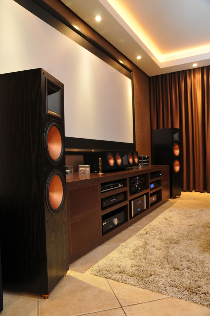 Beautiful Klipsch home theater.