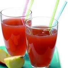 Ingrediënten -3 appels (500 g) -800 g watermeloen, fijngehakt, zonder schil -1 grote komkommer, geschild (400 g)- Methode- Verwerk het fruit en de groenten in de sapcentrifuge, meng goed en serveer direct. 10 minuten totale bereidingstijd