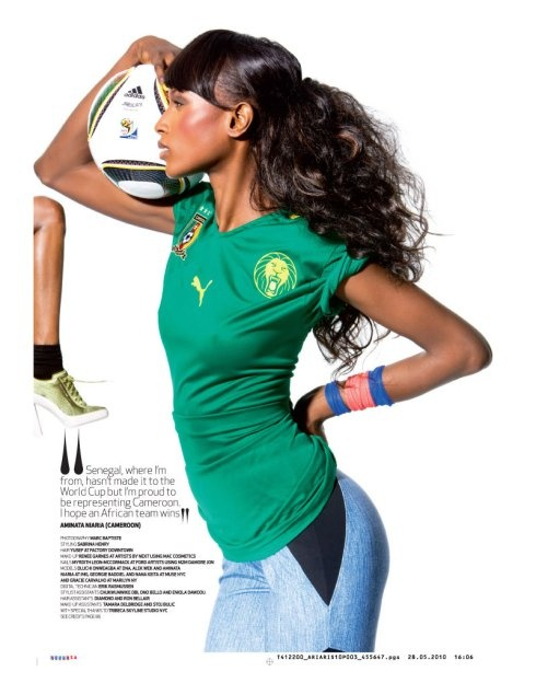 Soccer. World Cup Fashion. Football. Cameroon.