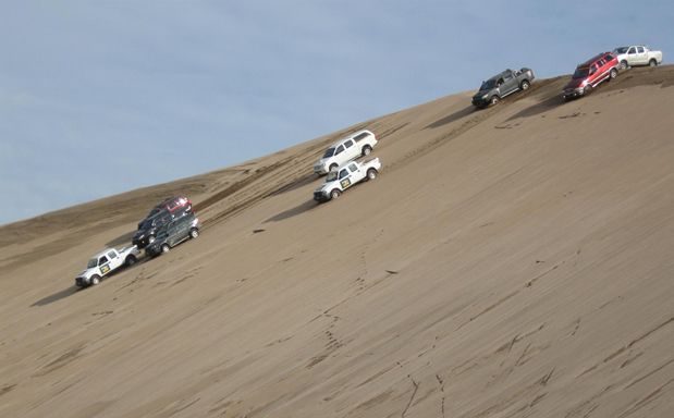 Pinamar y sus dunas, costa Atlantica, Argentina
