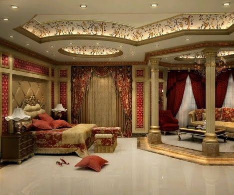 Inspiring bedroom ceiling lighting ideas with extravagant for Extravagant bedroom designs