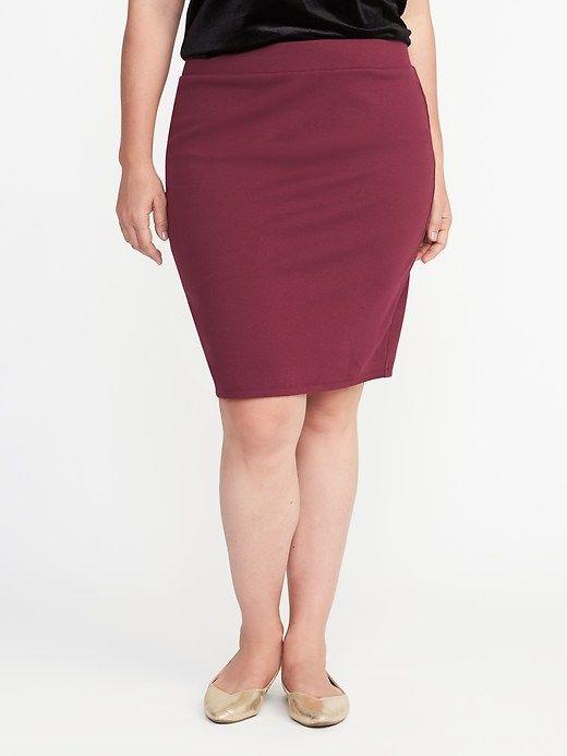 67f5953dc7ec4 Plus-Size Ponte-Knit Pencil Skirt