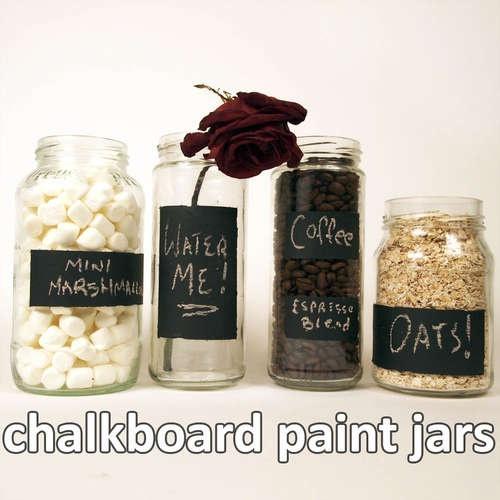 Chalkboard paint jars. I'm going to make a few.
