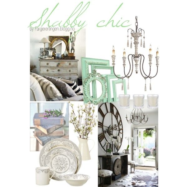 Shabby chic by fargerertingen on Polyvore featuring interior, interiors, interior design, home, home decor, interior decorating and Shabby Chic