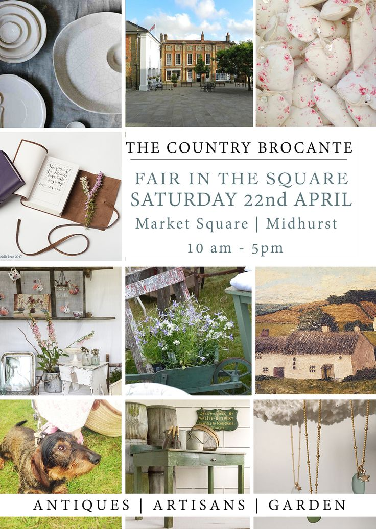 The Country Brocante Fair in the Square: 22nd April 2017