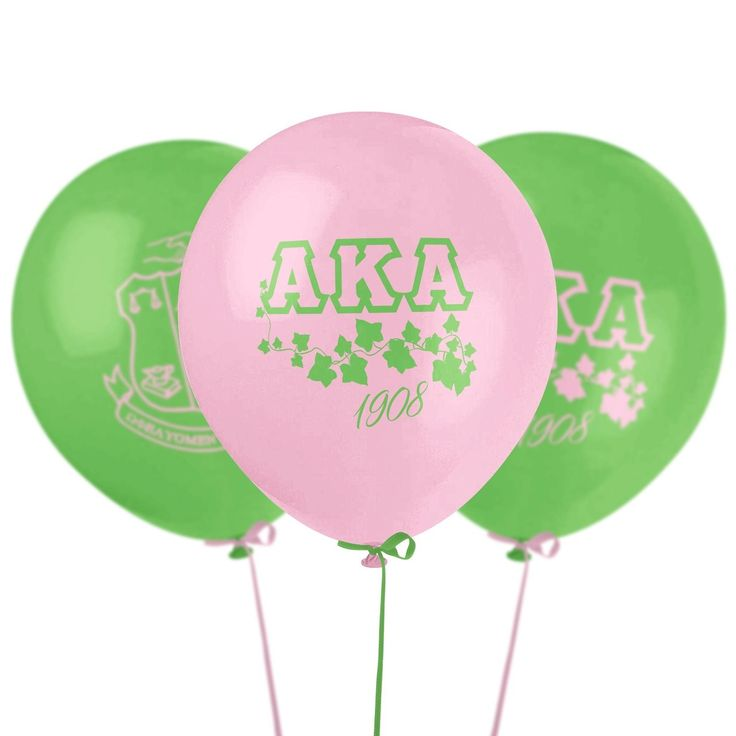 Pink & Green AKA Balloons - 6 pack