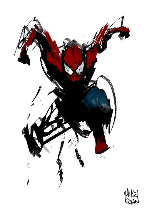 Spider & Paint  This would be awesome to have hang on your wall..!