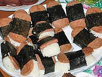 Spam musubi The residents of the state of Hawaii consume the most Spam per capita in the United States
